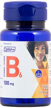 Option+ Vitamin B6 - 100 mg | 100 Tablets
