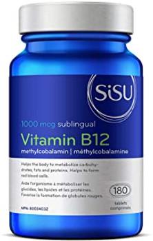 Sisu Vitamin B12 Sublingual 1000 mcg Bonus Primes  2 Bottles of 180 Tablets