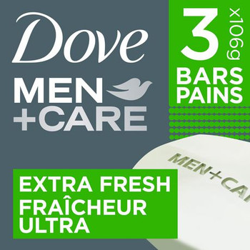 Dove Men+Care Extra Fresh Body & Face Bar   3 x 106 g