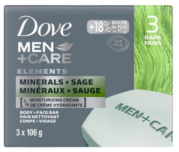 Dove Men+Care Minerals + Sage Body & Face Wash   3 x 106 g