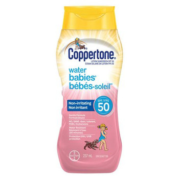 Coppertone Water Babies Non-Irritating Lotion Sunscreen - SPF50   237 ml