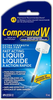 CompoundW  Fast Acting Liquid Wart Remover - Extra Strength | 10 mL