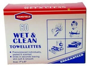 Mansfield Wet & Clean Towelettes | 60  Wipes