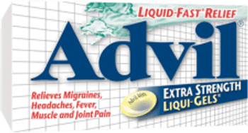 Advil Extra Strength Fever and Pain Relief Liquid Gels | 50 Capsules