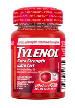 Tylenol Extra Strength Pain Relief Caplets | 150 eZ Tabs