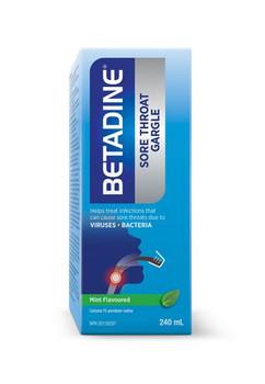 Betadine Sore Throat Gargle - Mint Flavoured | 240 ml