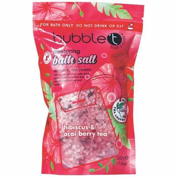 Bubble T Hibiscus & Açai Berry Tea Restoring Bath Sales with Real Tea Leaves | 500 g