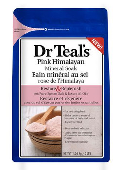 Dr Teal's Pink Himalayan Mineral Soak with Pure Epsom Salt & Essential Oils | 1360 g