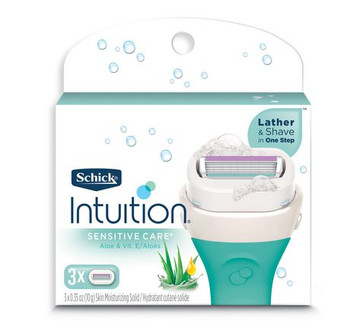 Schick Intuition Sensitive Care with Aloe & Vitamin E Replacement Cartridges | 3 Count