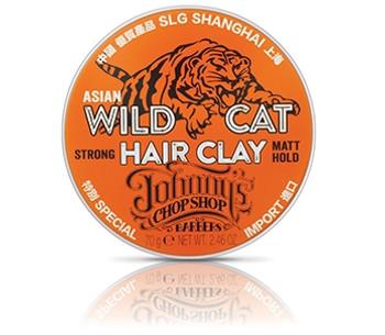 Johnny's Chop Shop Asian Wild Cat Hair Clay Strong Matt Hold | 70 g