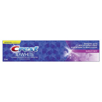 Crest 3D White Fluoride Toothpaste for Cavity Protection - Radiant Mint | 115 ml