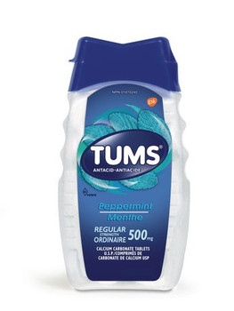 Tums Regular Strength 500 mg Antacid Tablets - Peppermint | 150 Count