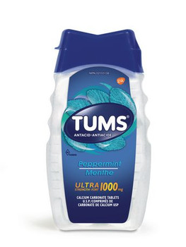 Tums Ultra Strength 1000 mg Antacid Tablets - Peppermint | 150 Count