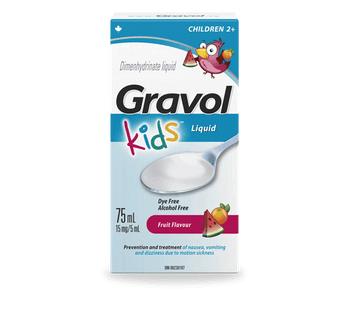Gravol Kids Fruit Flavour Dimenhydrinate Liquid | 75 ml