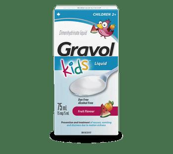 Gravol Kids Fruit Flavour Dimenhydrinate Liquid   75 ml