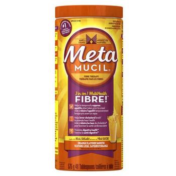 Metamucil 3 in 1 Multi Health Orange Flavour Smooth Fibre Powder | 575 g