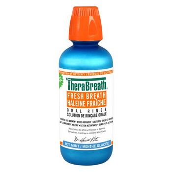 TheraBreath Fresh Breath Oral Rinse - Icy Mint   473 ml