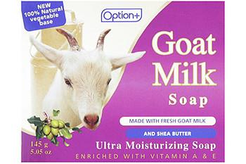 Option+ Goat Milk Ultra Moisturizing Soap with Fresh Goat Milk and Shea Butter | 145 g