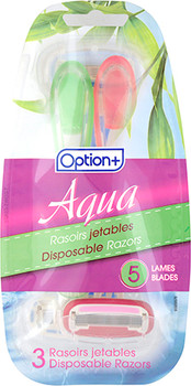 Option+ Aqua Disposable Razors | 3 Count