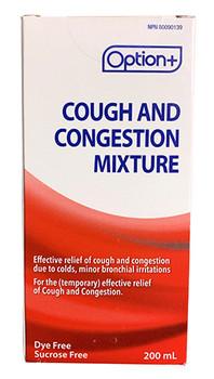 Option+ Cough & Congestion Mixture | 200 ml