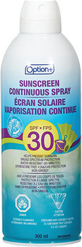 Option+ Continuous Spray Sunscreen - SPF 30 | 300ml