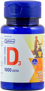 Option+ Vitamin D3 1000 IU | 250 Tablets
