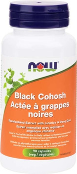 Now Black Cohosh Standardized Extract with Licorice & Dong Quai | 90 Vegetable Capsules