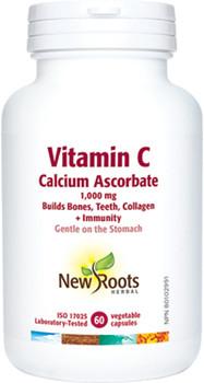 New Roots Vitamin C Calcium Ascorbate - 1000 mg | 60 Vegetable Capsules