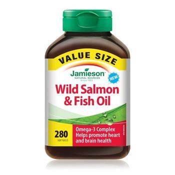 Jamieson Omega-3 Complex Wild Salmon & Fish Oil Supplements | 280 Softgels