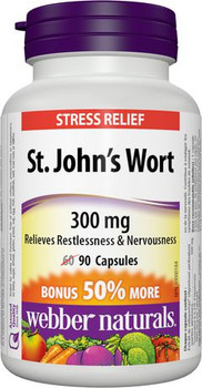 Webber Naturals St. John's Wort for Stress Relief - 300 mg | 60 Capsules
