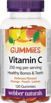Webber Naturals Vitamin C Gummies - 250 mg | 120 Gummies