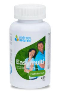 Platinum Naturals EasyMulti Multivitamin | 60 Softgels