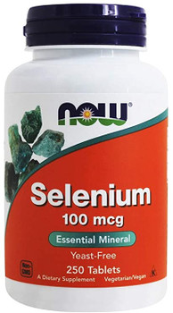 NOW Yeast Freee Selenium 100mg | 250 Caps