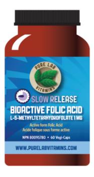Z-DISC Pure Lab Slow Release Bioactive Folic Acid | 60 Vegi-Caps