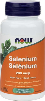 NOW Yeast Free Selenium 200mg | 90 Caps