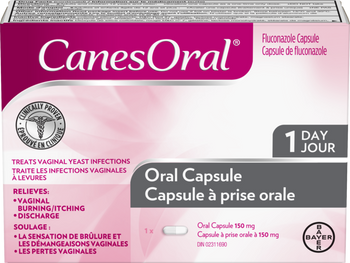 CanesOral Vaginal Yeast Infection Treatment Oral Capsule - 150 mg | 1 Count