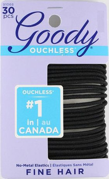 Goody Ouchless Elastics for Fine Hair | 30 Count