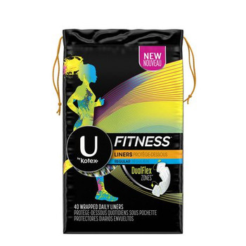 U by Kotex Fitness Liners - Regular Flow | 40 Wrapped Daily Liners