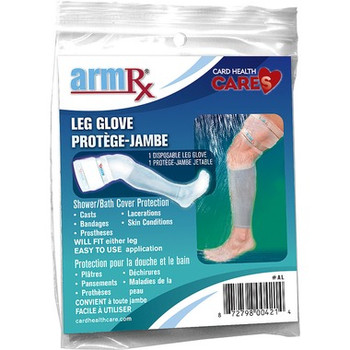 ArmRx Leg Glove - Shower/Bath Cover Protection | 1 Disposable Leg Glove
