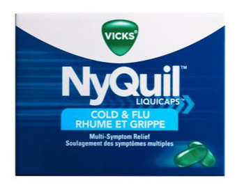 Vicks NyQuil Cold & Flu Liquicaps - Nighttime Relief | 16 Liquid Capsules