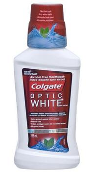 Colgate Optic White High Impact White Alcohol Free Mouthwash - Icy Fresh Mint | 236 mL