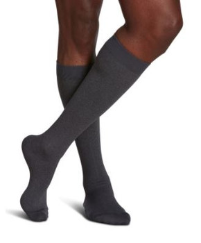 Sigvaris Well Being 183 Microfiber Shades Men's Closed Toe Socks - 15-20 mmHg - Graphite Heather | SIZE A