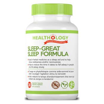 Healthology Sleep- Great Sleep Formula | 30 Vegetable Capsules