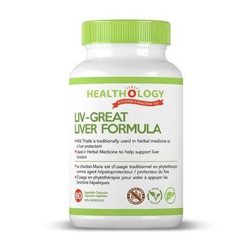 Healthology Liv - Great Liver Formula | 60Vegetable Capsules