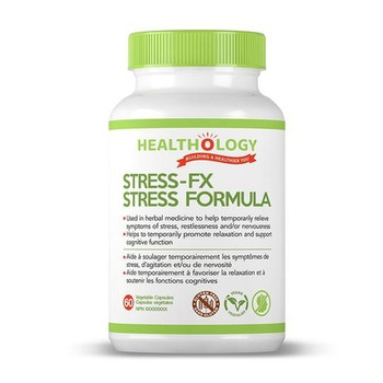 Healthology Stress - FX Stress Formula | 60 Vegetable Capsules