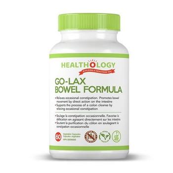 Healthology Go-Lax Bowel Formula | 60 Vegetable Capsules