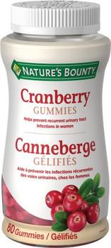 Nature's Bounty - Cranberry Gummies | 60 Gummies