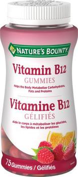 Nature's Bounty - Vitamin B12 Gummies | 75 Gummies