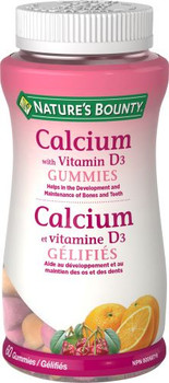 Nature's Bounty - Calcium With Vitamin D3 Gummies | 60 Gummies