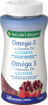 Nature's Bounty - Omega-3 With Vitamin D3 Gummies | 120 Gummies